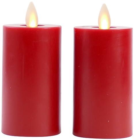 Amazon.com: Conjunto de 2 velas sin llama Liown Vela Votiva ...