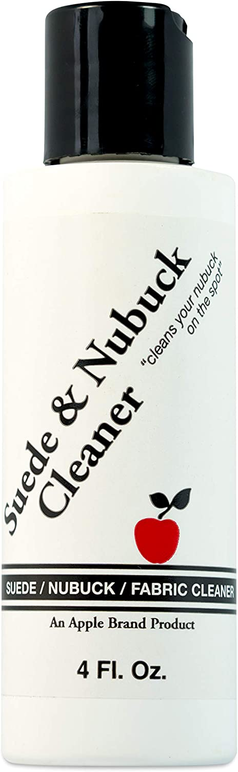 Apple Brand Suede & Nubuck/Fabric Shoe Cleaner 4 oz - for Shoes, Boots, Bags, Luggage, Furniture and More