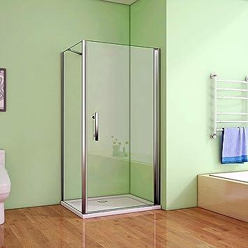 90 x 76 x 195 cm de ducha mampara de ducha con tapa de cristal con plato de ducha 90 x 76 cm para puerta: Amazon.es: Bricolaje y herramientas
