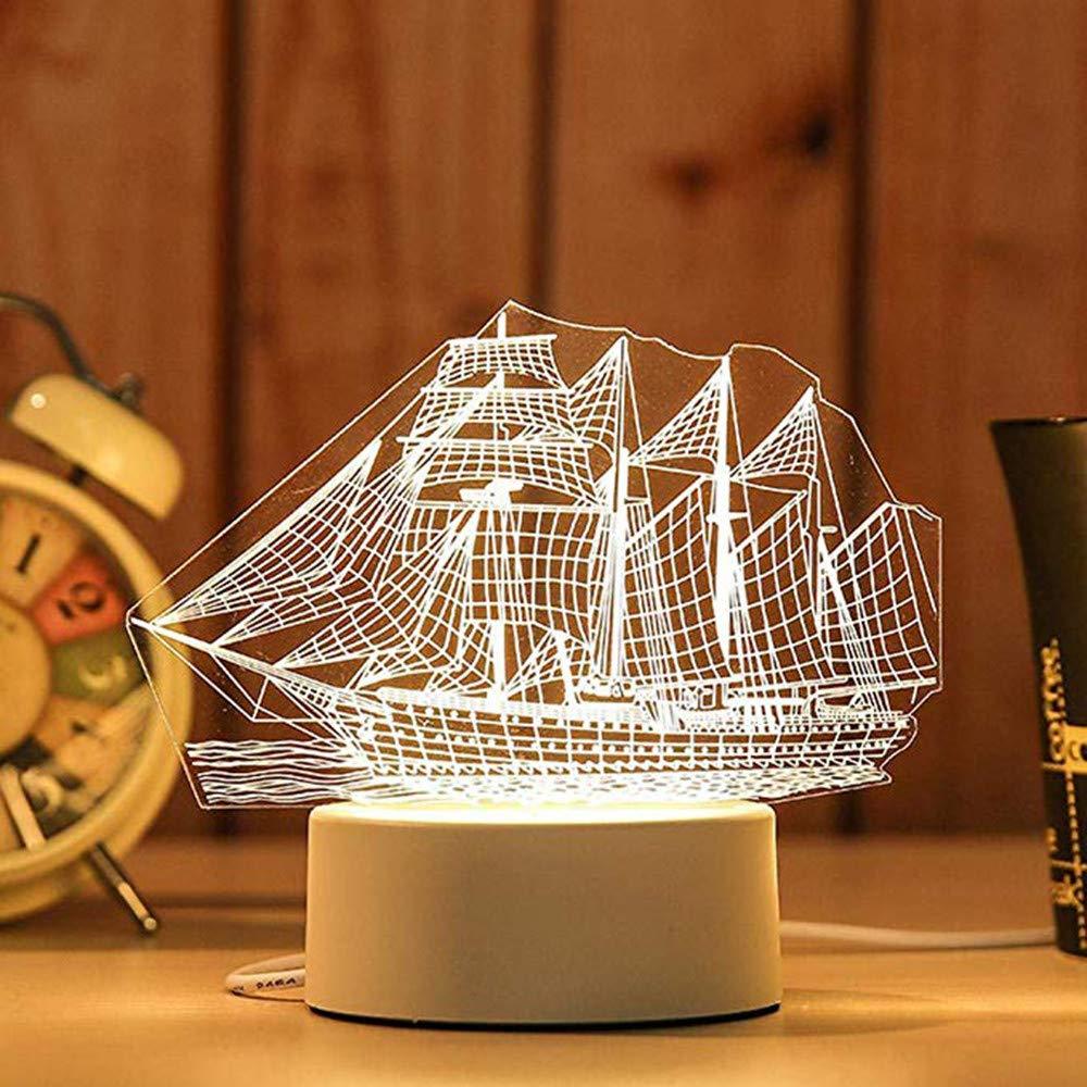 【値下げ】 certainPL 3D 3D USBアクリルナイトライト LEDテーブルデスクランプ 寝室装飾 子供へのギフト 温白色 ホワイト certainPL 寝室装飾 J B07J548P5H, 超ポイントアップ祭:c697b08e --- ciadaterra.com