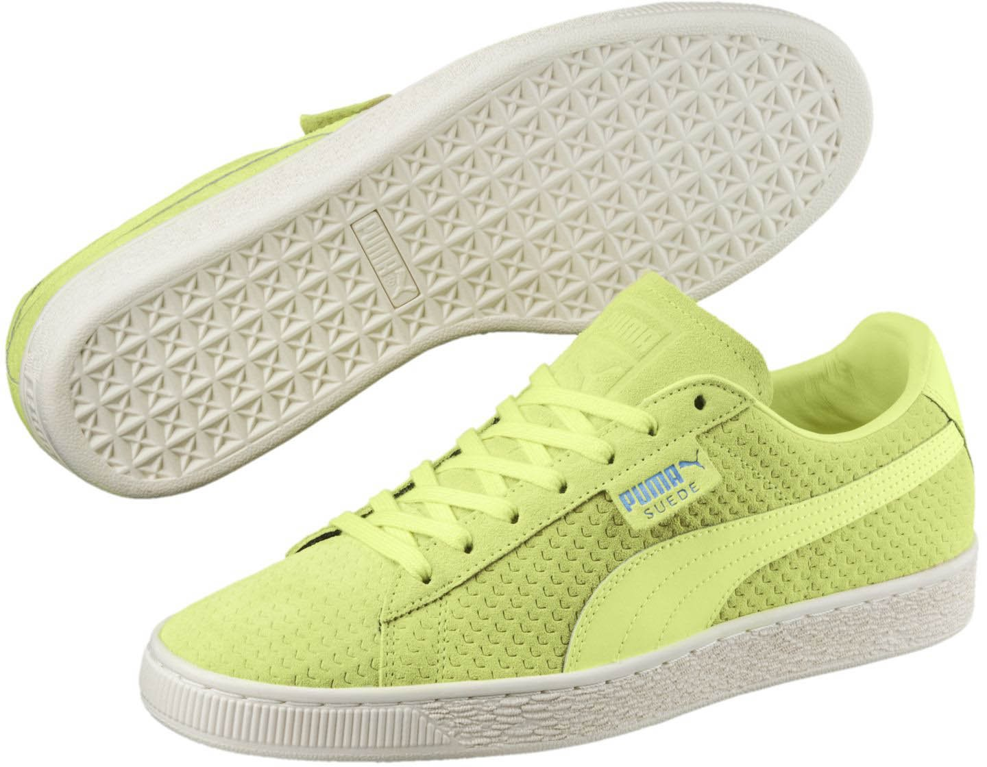 PUMA Women's Suede Classic Perforati WN's Sneaker B076KRFH22 9.5 M US|Sunny Lime-whisper White