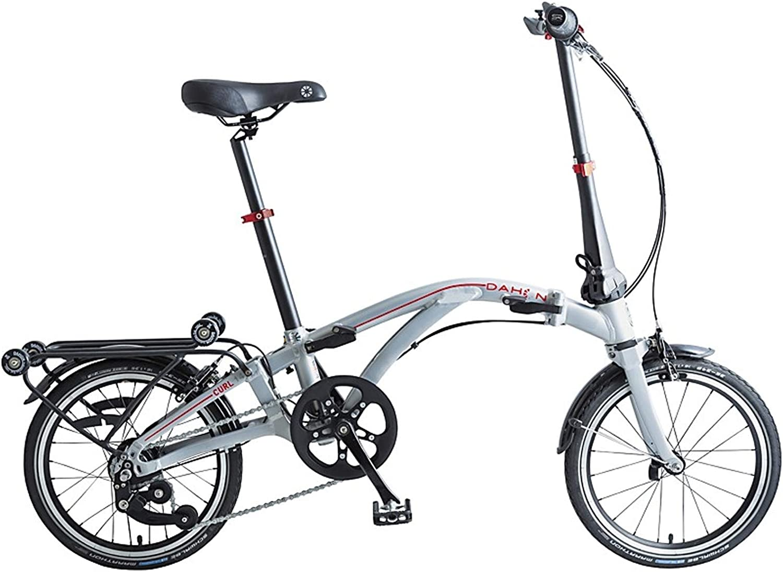 Dahon Curl i4, Bicicleta Plegable Unisex Adulto, Plata, 16 Pulgadas