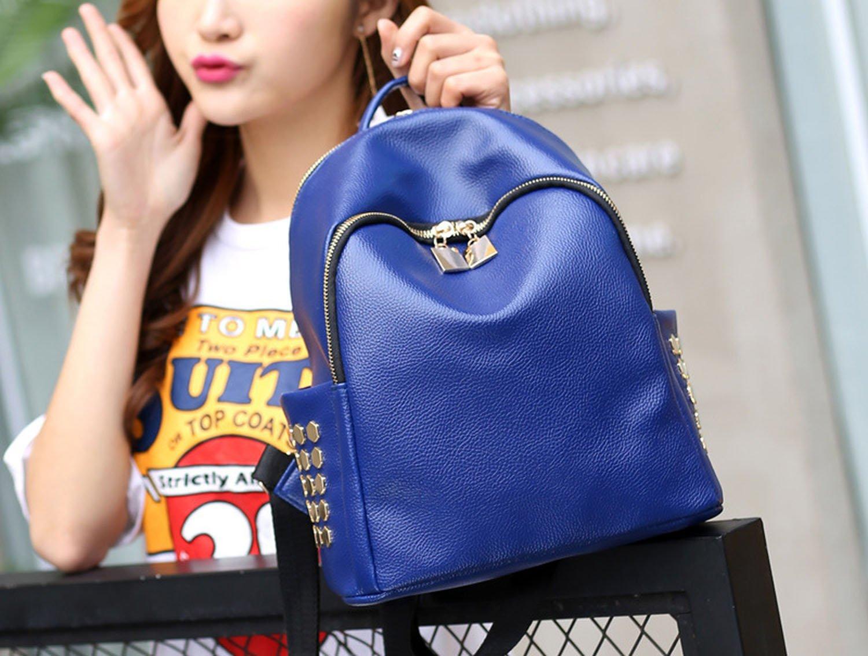 shoulder bag rivets shoulder bag simple multicolor backpack small bag,black by Toping Fine basic-multipurpose-backpacks (Image #4)