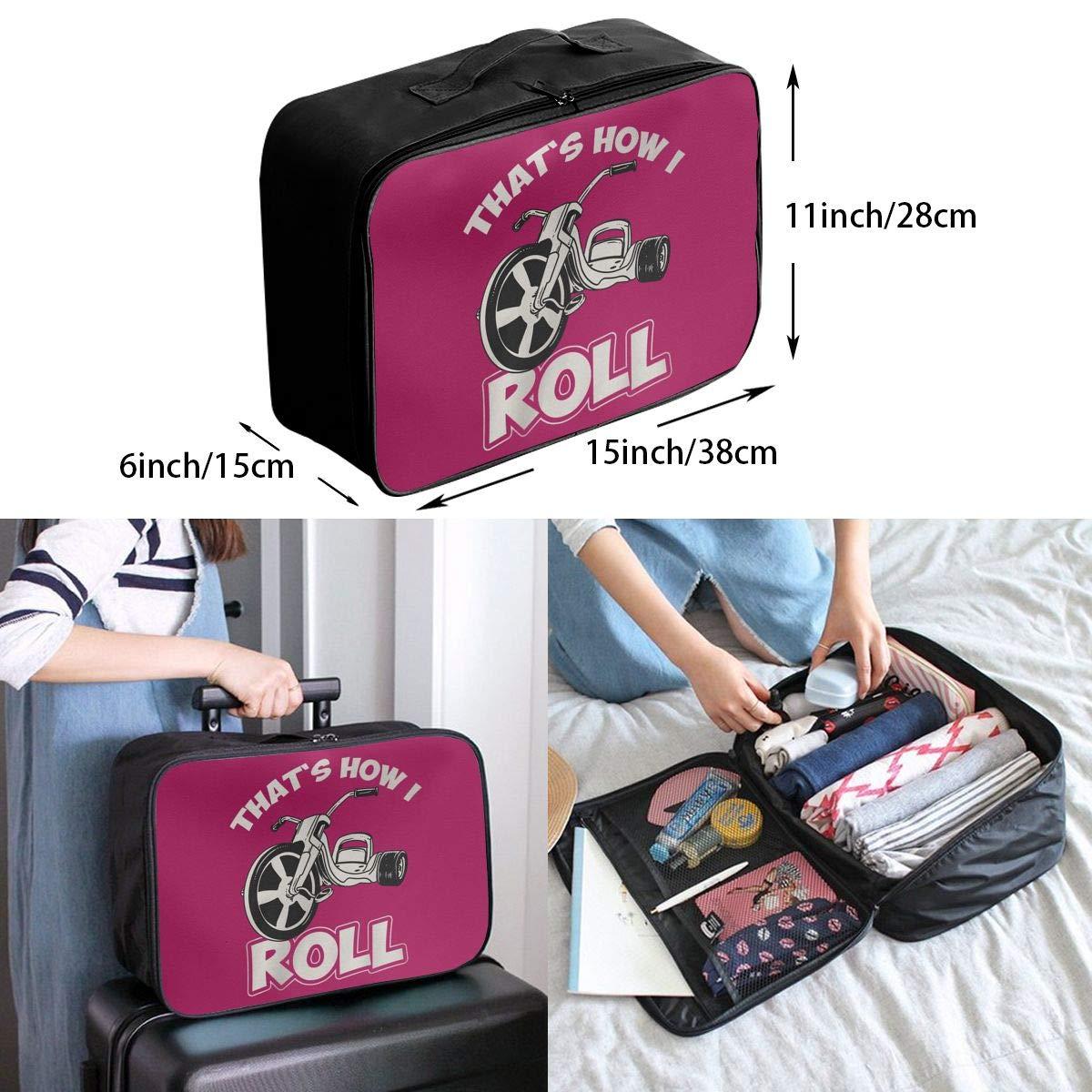 Travel Luggage Duffle Bag Lightweight Portable Handbag Thats How I Roll Large Capacity Waterproof Foldable Storage Tote