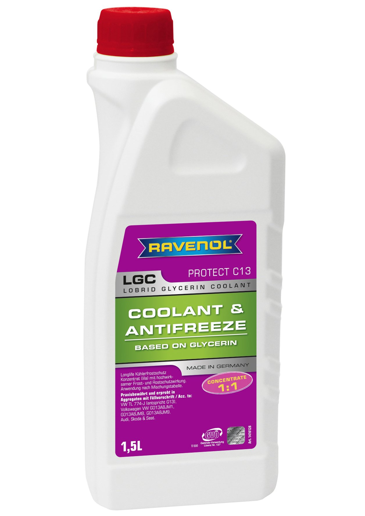 RAVENOL J4D2002 LGC C13 Coolant Antifreeze Concentrate (G13) (1.5 Liter)