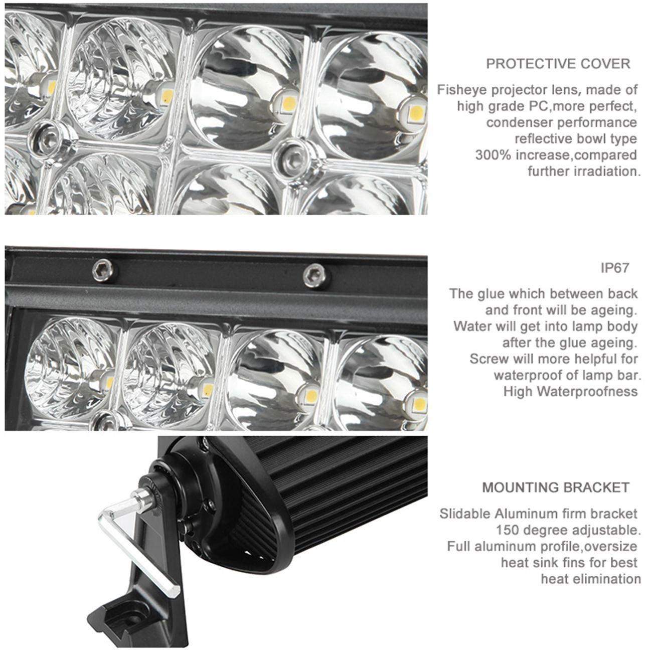 Fit Jeep Wrangler Jk 2007 2017 Offroad Light Bar Kit Powlab 52 Inch Tj Windshield Lights Wiring 6000k