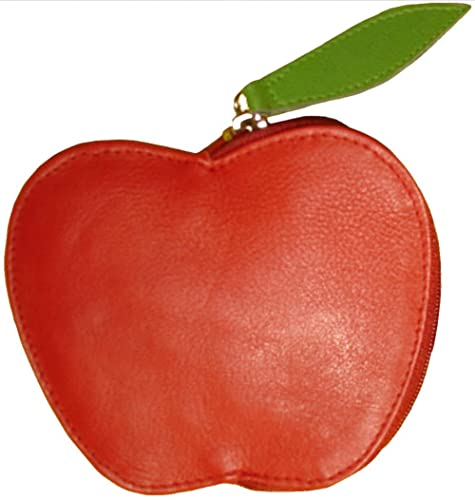 Josybag monedero de cuero Eve Apple - Rojo / Verde ...