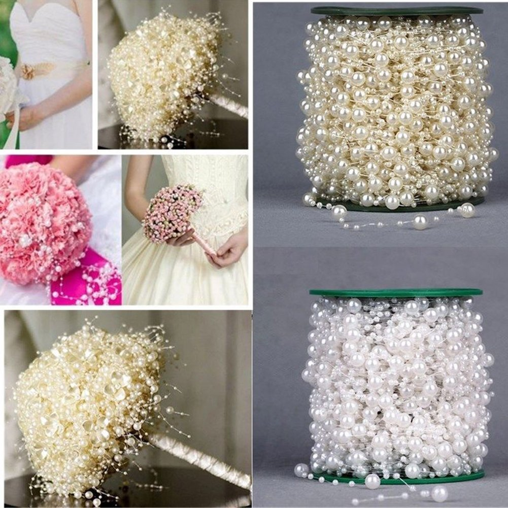 5M Faux Pearl Acrylic Beads Garland Rope Wedding Party Headwear Decoration