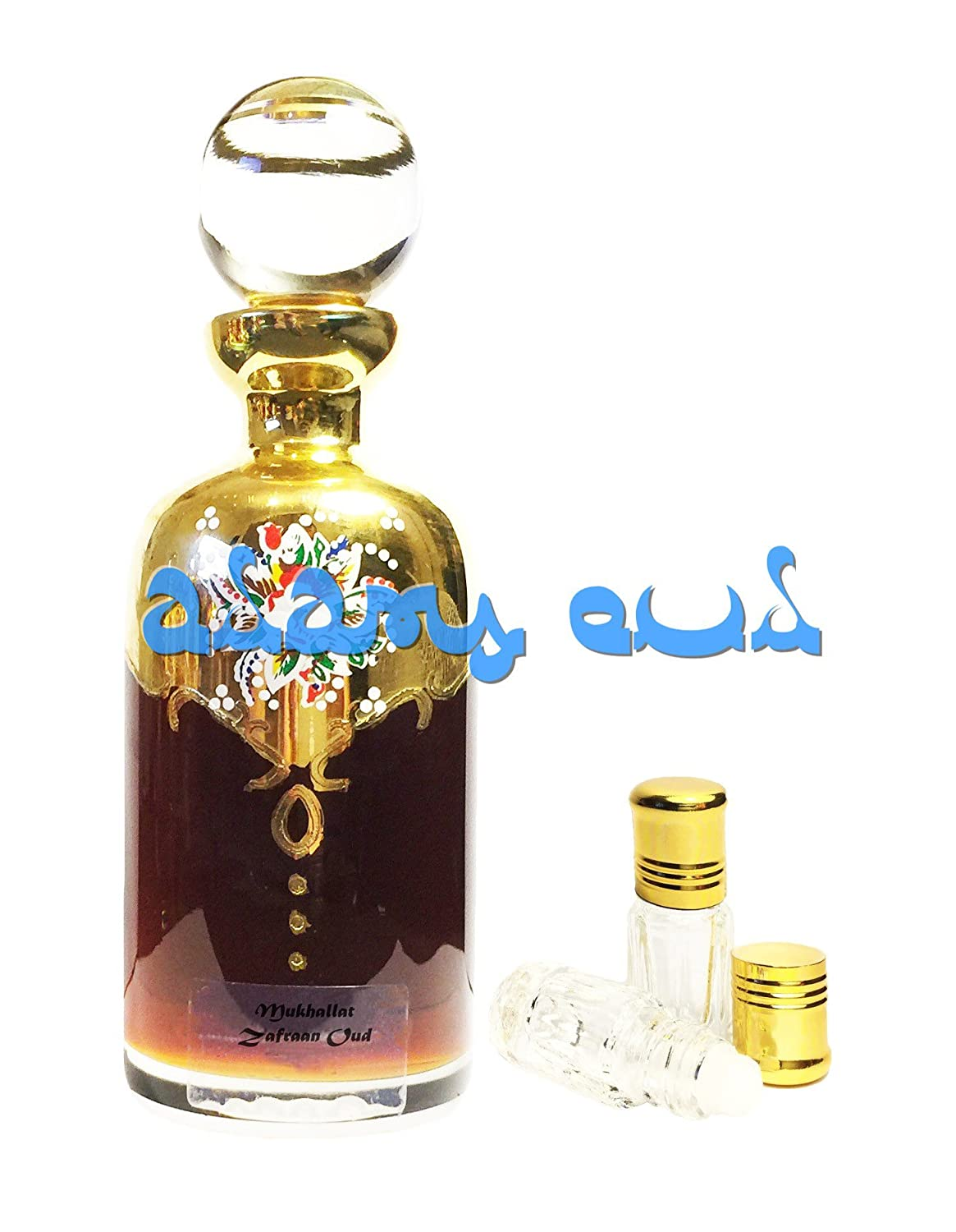 Mukhallat Zafraan Oud - Concentrated Oil Based Attar - Strong and Sweet Oudh Perfume (3ml) from Adam's Oud