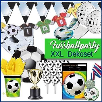 Fussballparty Xxl Partypaket Kindergeburtstag Fussball
