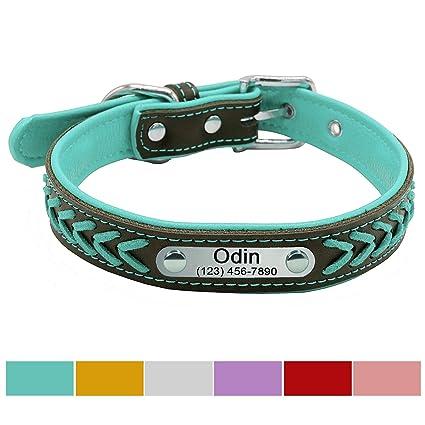 amazon com vcalabashor custom leather dog collar braided genuine