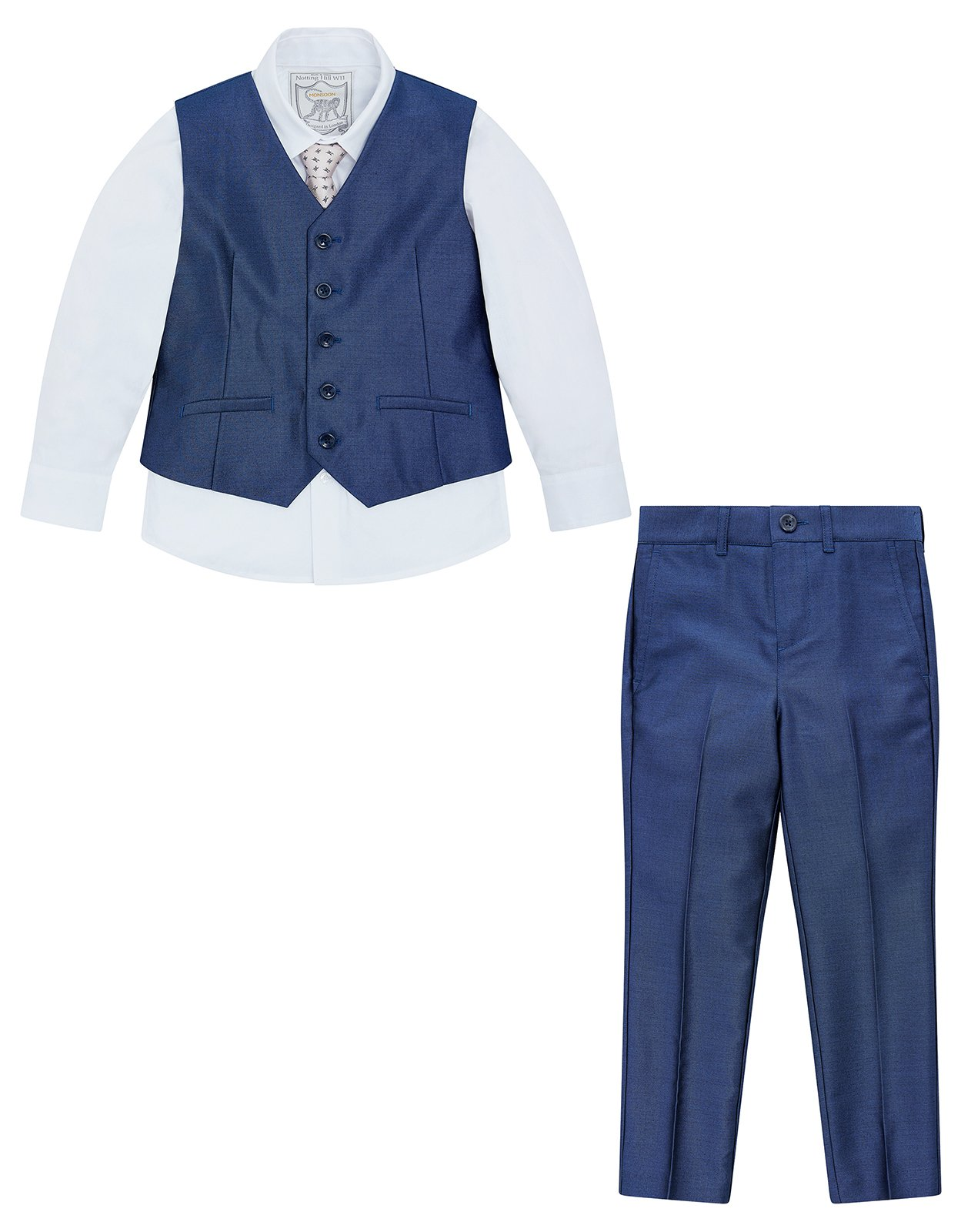 Monsoon Rufus Tonic 4PC Suit Set - boys - 18-24 Months