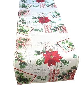 Trypinky Tischlaufer Weihnachtsstern 136 X 36 Cm 100 Baumwolle Bw