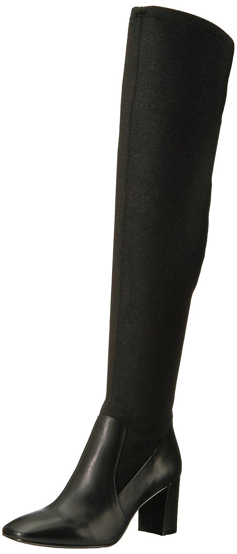Nine West Women's Xperian B06XHMMXGJ 10 B(M) US|Black/Metallic Stretch Fabric