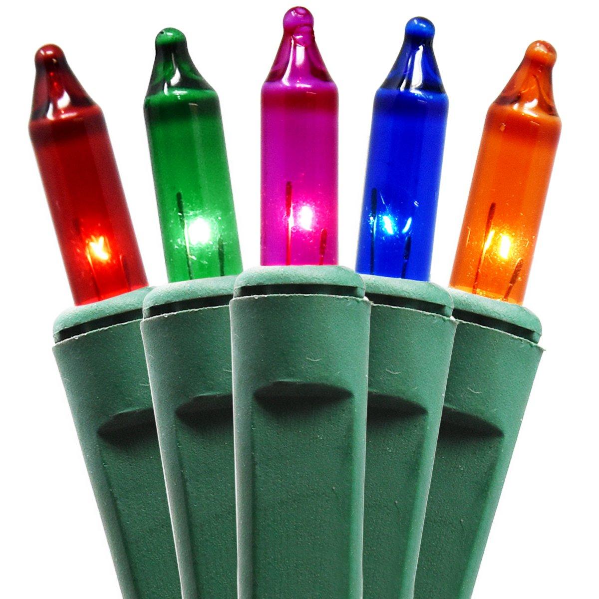 Amazon.com : Holiday Essence 100 Multi-Color Christmas Lights with ...