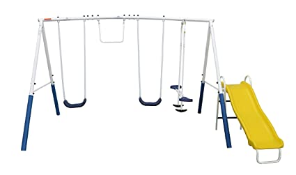 Amazon Com Xdp Recreation Blue Ridge Play Swing Set Sports Outdoors