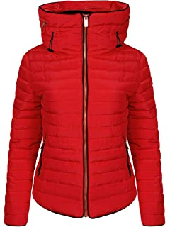 8a73011f9b84e Love My Fashions® Womens Jacket Parka Padded Puffer Bubble with Faux Fur  Fitted Collar…