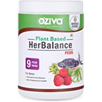 OZiva Plant based HerBalance for PCOS (with ChasteBerry, Rhodiola Rosea, Red Raspberry, Shilajit, Ashoka & more), 250 g