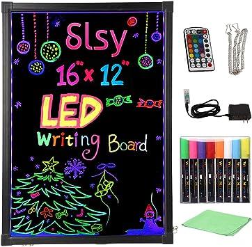 Fluorescent Pens USA Flashing Illuminated Erasable Led Neon Sign Writing Board