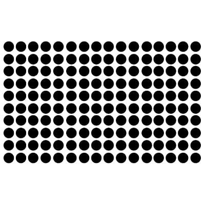 "Innovative Stencils Polka Dot Wall Decal Nursery Kids Room Peel and Stick Removable Sticker Circle Pattern Decor #1326 (1.5"" (150 Dots), Black): Home Improvement"
