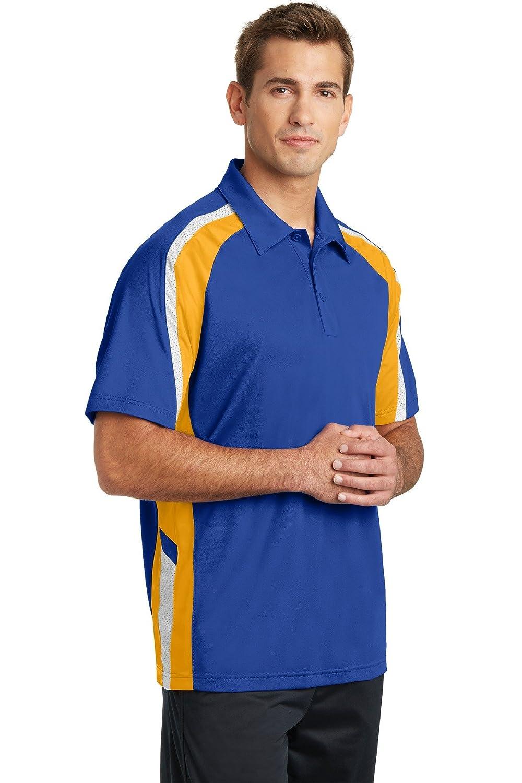 Sport-Tek Mens Tricolor Wicking Polo Shirt