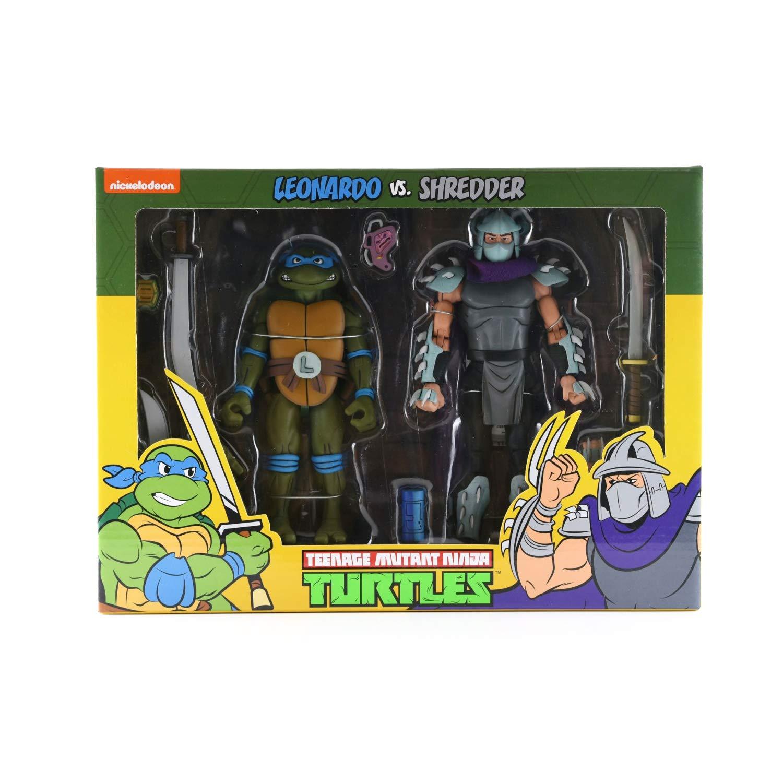 Amazon.com: NECA Leonardo vs Shredder Action Figure - Figura ...