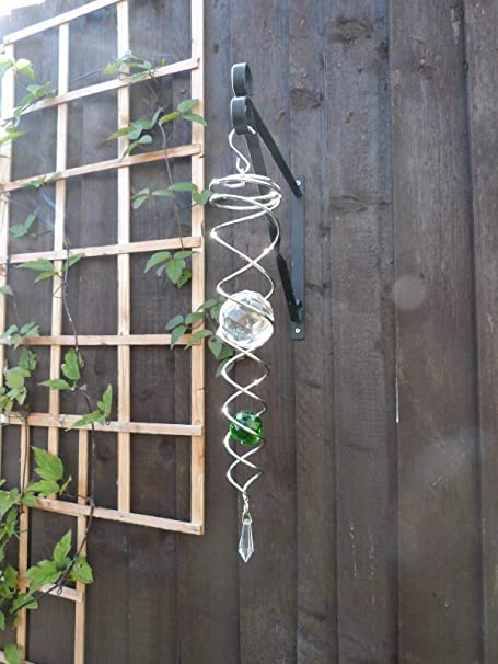 Metallic Cosmo Spinner Wind Chimes - Crystal Vortex with 2 Cystals
