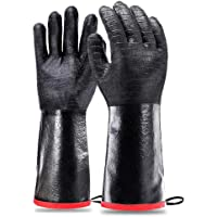 Kaisilan BBQ Grill Gloves 932℉ Heat Resistant for Turkey Fryer, Baking, Oven, Neoprene Coating Waterproof Grilling…