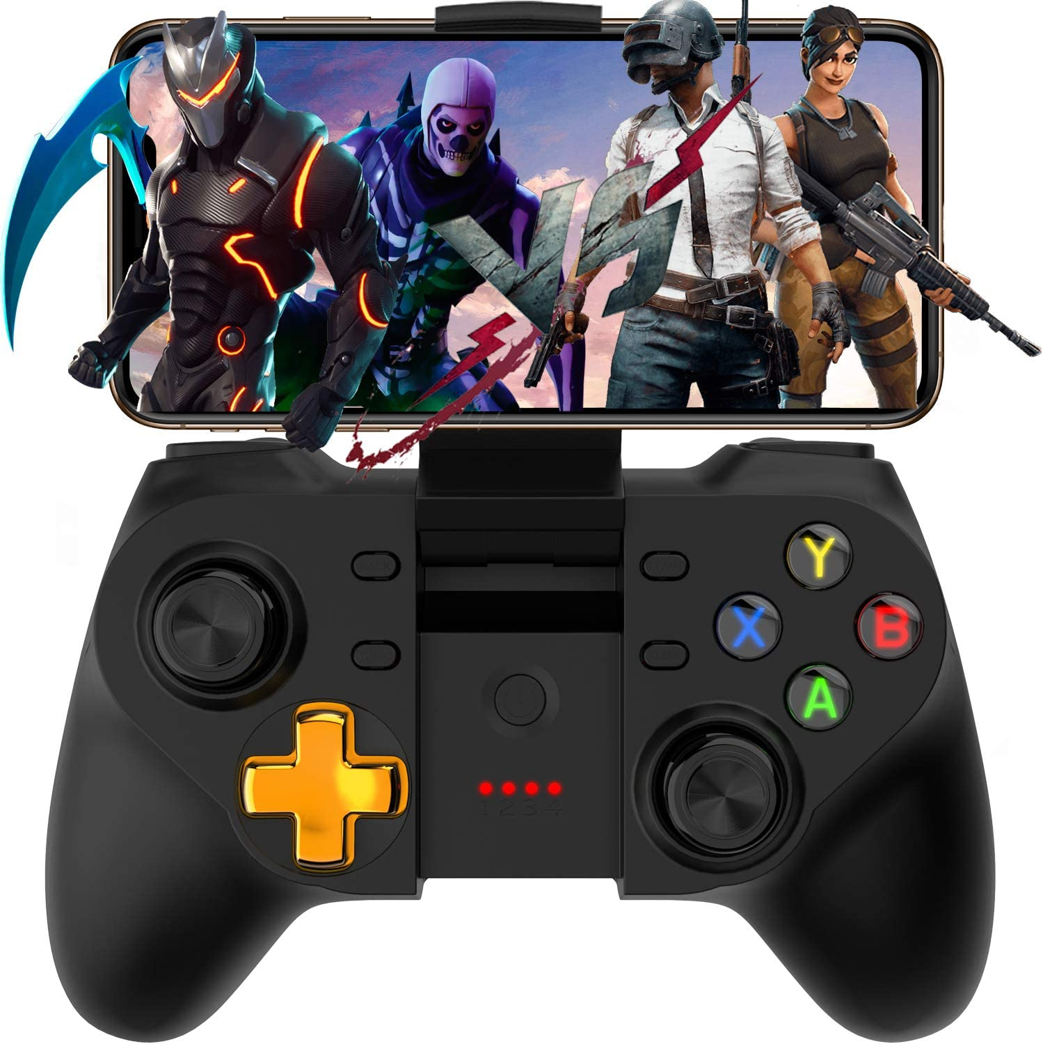 Direct Play for 4-6 inch Android iOS Phone Mobile Gamepad Controller Megadream Key Mapping Gaming Joysticks Trigger for PUBG//Rules of Survival /& More Shooting Fighting Racing Game