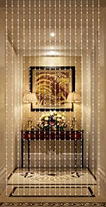 THY COLLECTIBLES Beautiful Home Decor Acrylic Beaded Curtain - Silver Balls