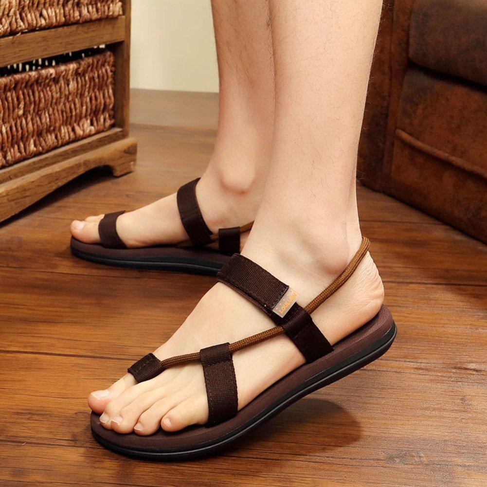 QIDI Sandales PVC Maille Résistant À L'usure Respirant Casual Noir Bleu Brown Chaussures De Plage Pantoufles (Couleur : Marron, taille : EU42/UK8.5)