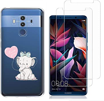 Reshias Huawei Mate 10 Pro Funda Amor y Elefante Soft Transparente ...
