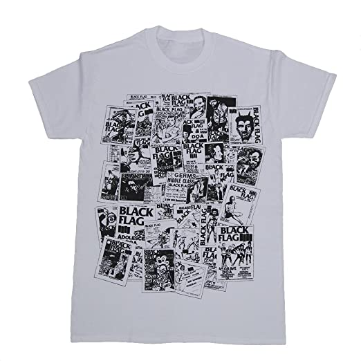 44bec723f Amazon.com  BLACK FLAG Flyers Collage T-shirt  Clothing