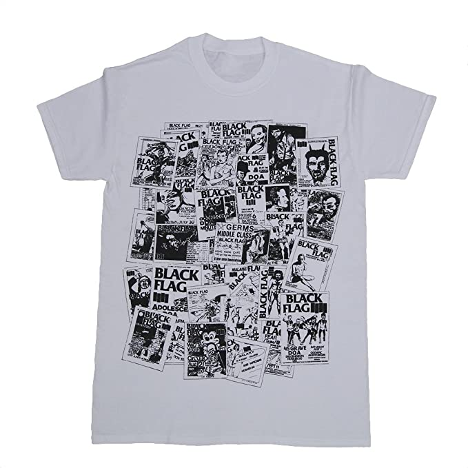 sst superstore black flag flyers collage t shirt small white
