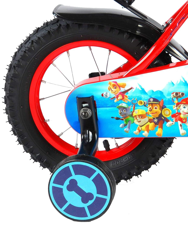 Fahrradhelm Gr 52-56 cm R/ücktrittbremse Trinkflasche Paw Patrol Kinderfahrrad 12 Zoll