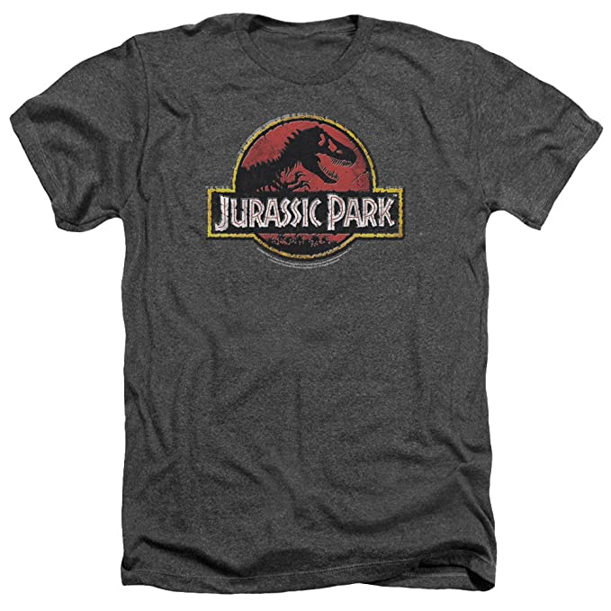 Jurassic Park Stone Logo Mens Heather Shirt