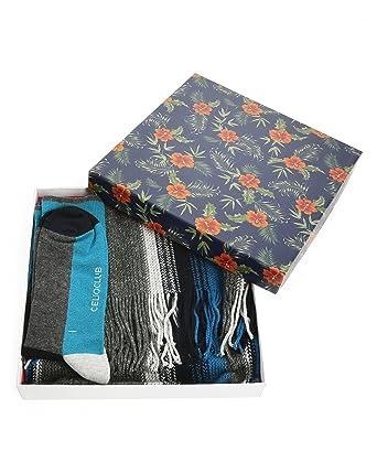 CELIO CLUB - - Homme - Coffret écharpe grise et chaussettes Cuba pour homme  - 43 3e684b4060b