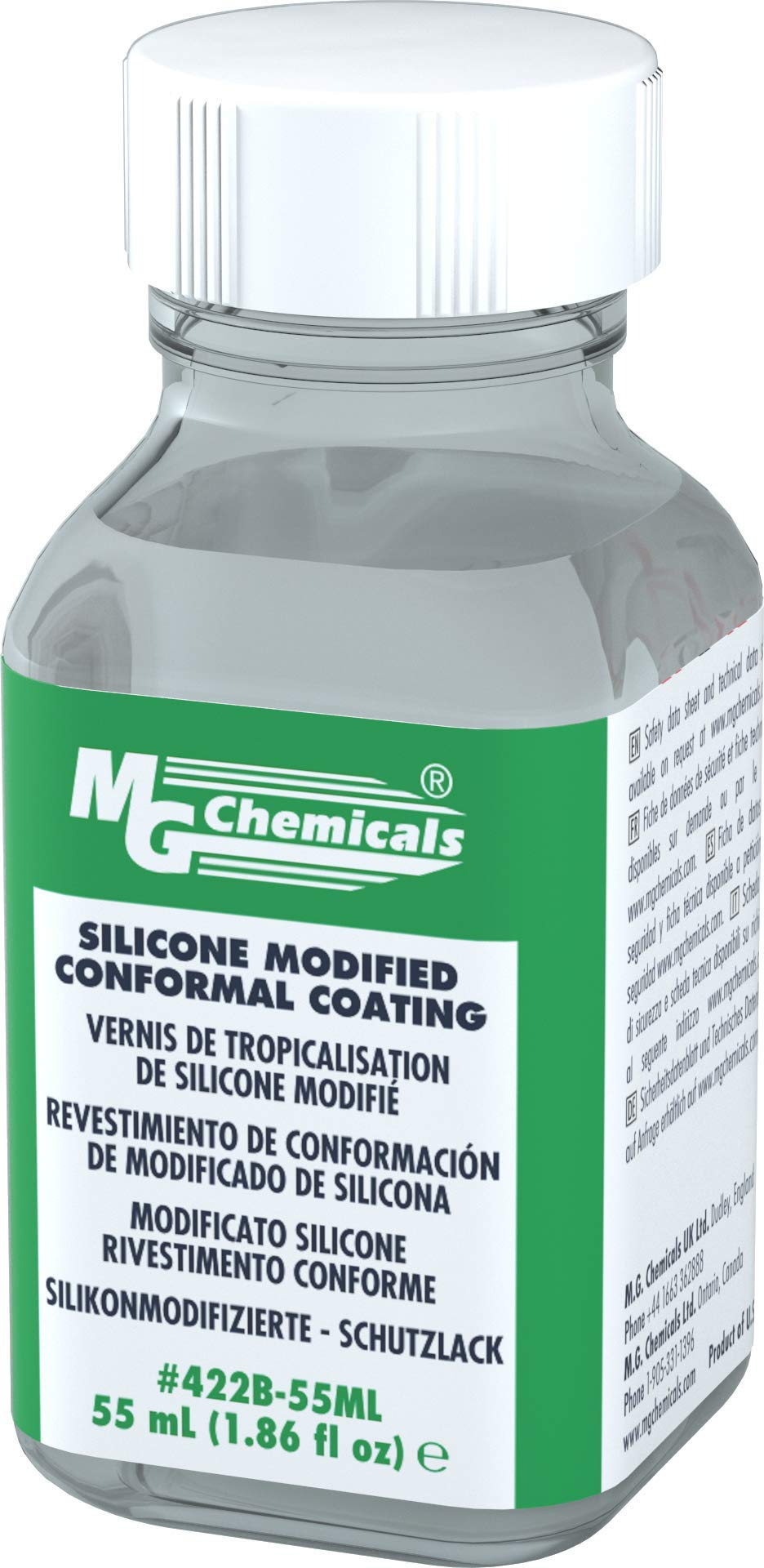 MG Chemicals SILICONE CONFORMAL COATING, 55ml botella de líquido, transparente product image