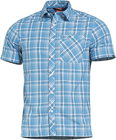 PENTAGON Hombre Scout Camisa Manga Corta Firozi: Amazon.es ...