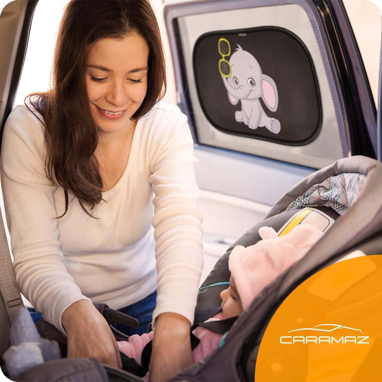 Tendine parasole auto bambini nere ocean Parasole bambini accessori auto,2 pezzi 51x31cm protezione solare raggi UV/… tende da sole per esterno
