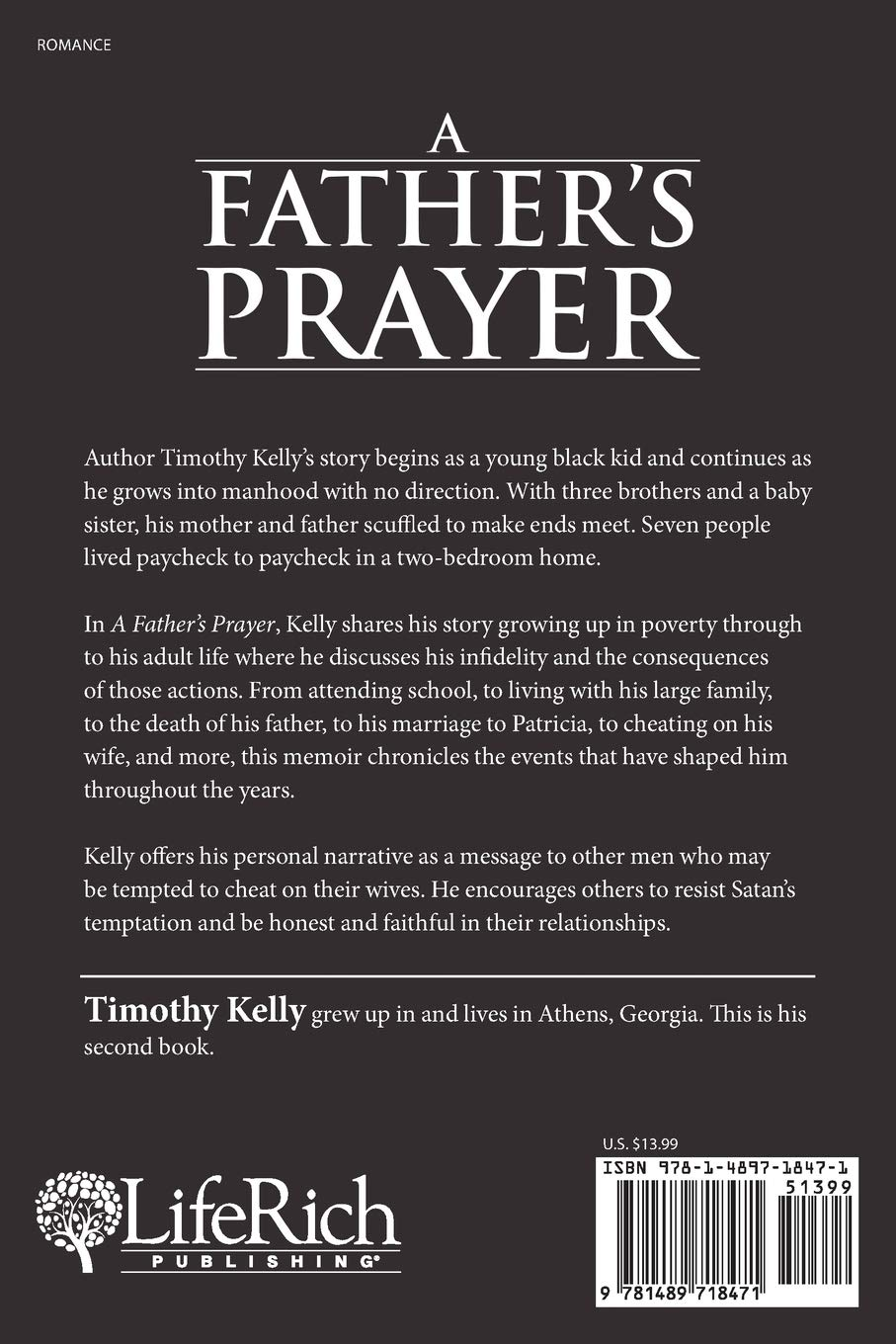 A Father's Prayer: Timothy Kelly: 9781489718471: Amazon com: Books