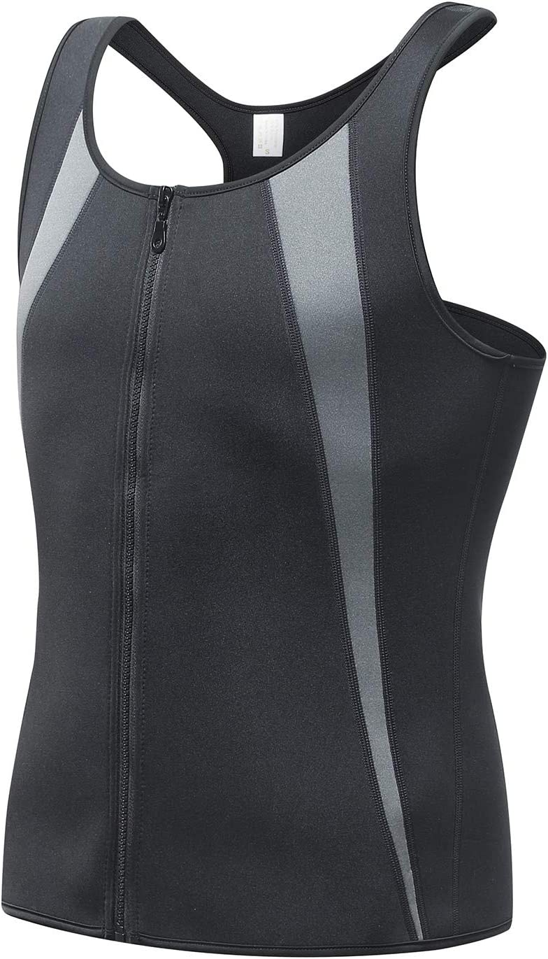 Outdoor Mens Compression Sweat Sauna Suit Workout Weight Loss Vest by JM