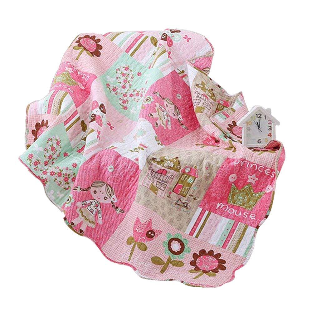 Abreeze Cotton Coverlet Quilt Bedspread Girls Throw Blanket 43'' X 51''