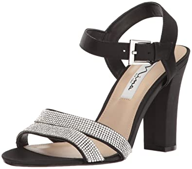 4ad1eba61b2 NINA Women s Sylvie Dress Sandal LS- Black 5.5 M US
