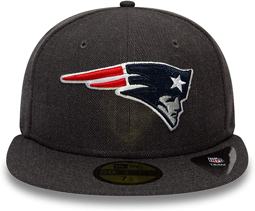 New Era England Patriots Heather Essential Graphite OTC Cap 59fifty 5950 Fitted Limited Edition