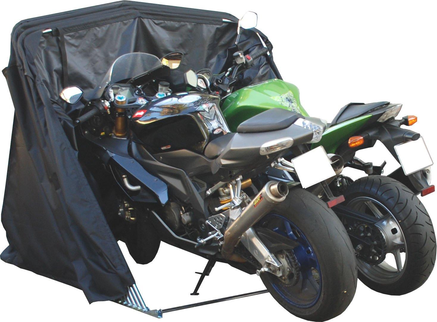 Frecce Garage pieghevole Garage Moto Scooter ciclomotore Garage Telo Tenda Nero XXL