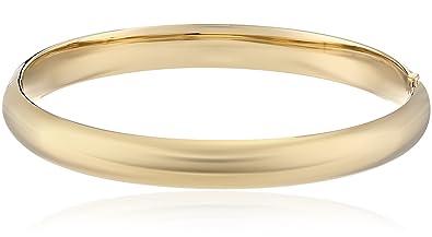 98a260e5e43af 14k Gold-Filled Polished Hinged Yellow Bangle Bracelet, 2.6