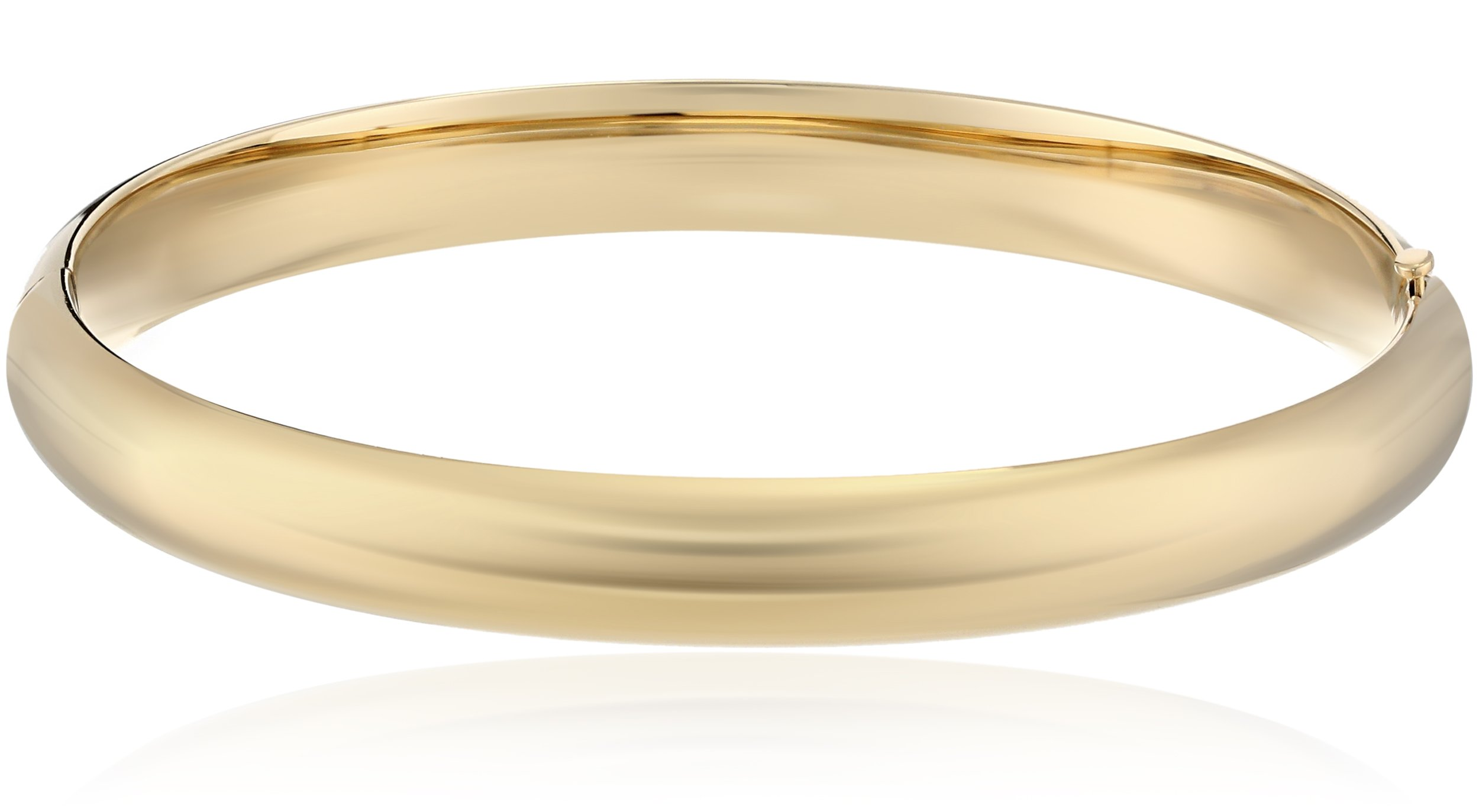 14k Gold-Filled Polished Hinged Yellow Bangle Bracelet, 2.6'' by Amazon Collection