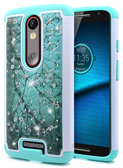 DROID Turbo 2 Case Verizon XT1585, NageBee [Hybrid Protective] Armor Soft Silicone Cover