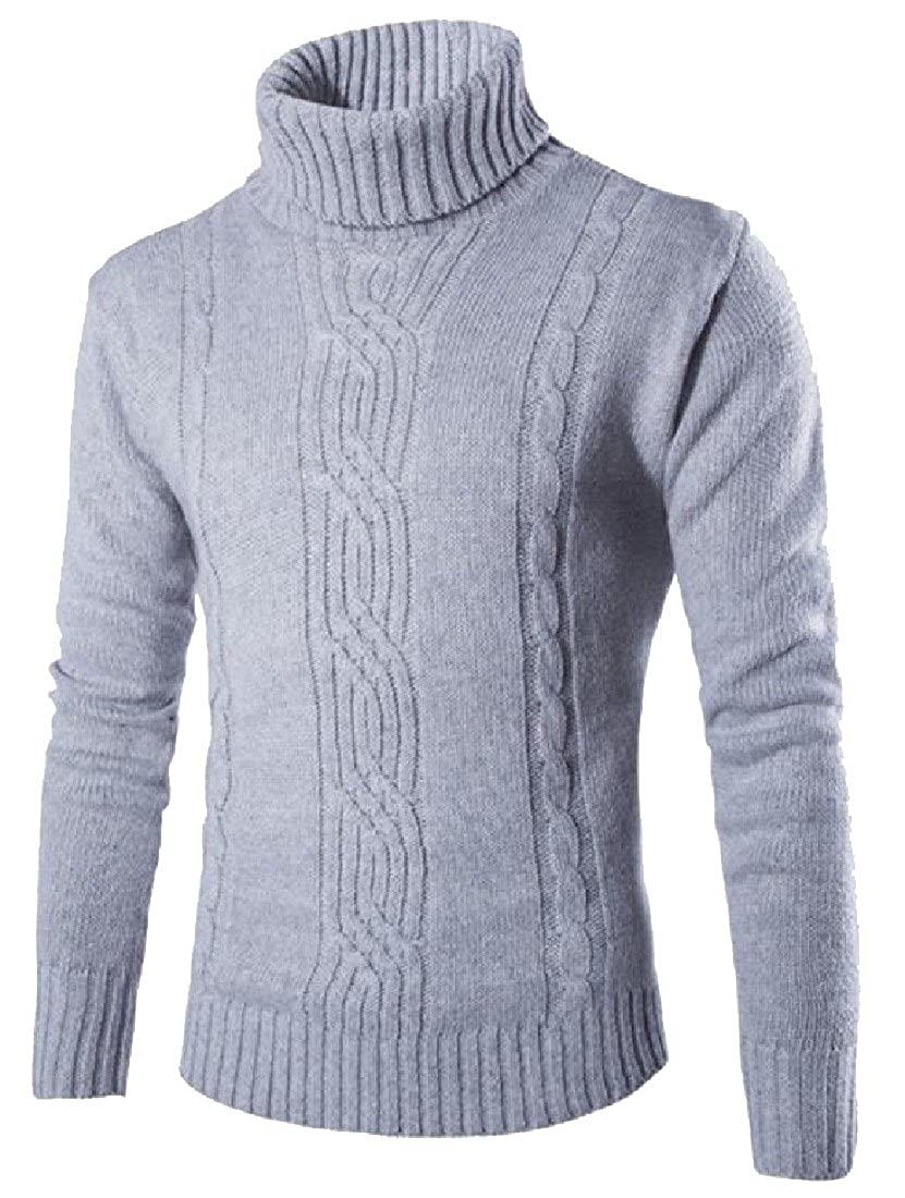 Comaba Mens Patterned Stretchy Western Solid Colored Sweater Tops